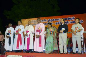 Public Meeting - Rev. Dr. G K Chellappa, Bishop Dr. Taranath S Sagar, Most Rev. Dr. Antony Popusmay, Rt. Rev. Dr M Jospeh, Mrs. Manohari Joseph, Rev. Dr. Roger Gaikwad and Re