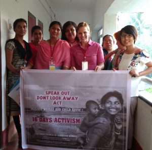 Young Women Leaders Promoting 16 Days of Activism Campaign Against Violence on Women during Baptist Women's Forum in Orissa